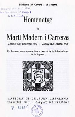 Homenatge a Marti Madern