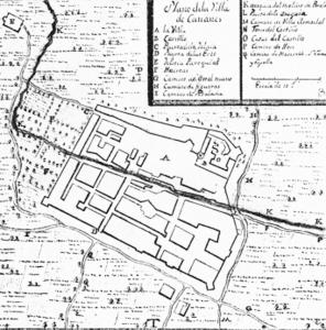 Plànol de Cabanes. Segle XVIII
