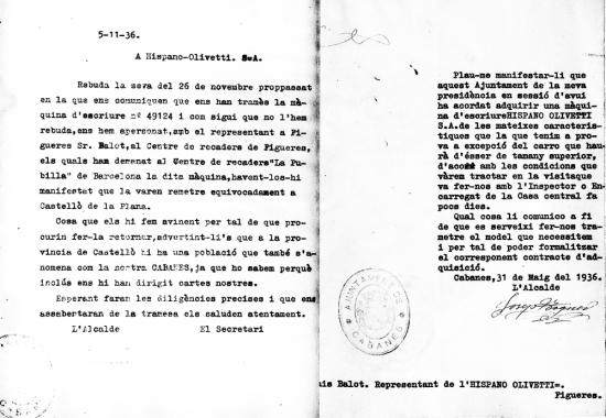 Documents 1936