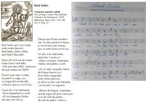 Sant Isidre-Cançó popular